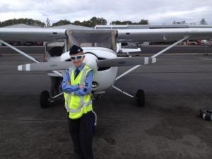 Air Force Cadet Taking Trial Flight at Air Gold Coast