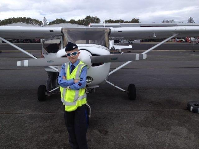 Air Force Cadet Taking Trial Flight at Air Gold Coast