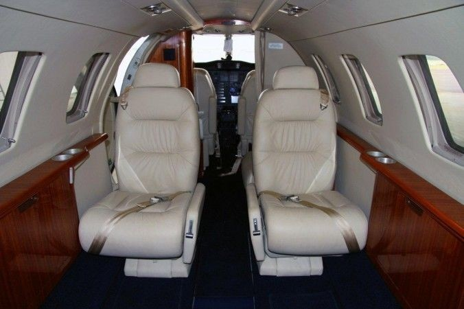 Interior view of Air Gold Coast Cessna C525 Citation CJ1 Corporate and Executive Charter Jet Aircraft