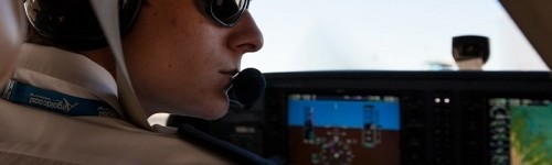 Air Gold Coast Commercial Pilot student with headset