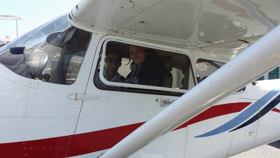 Young Lady Taking Trial Flight in Cessna 152 at Air Gold Coast